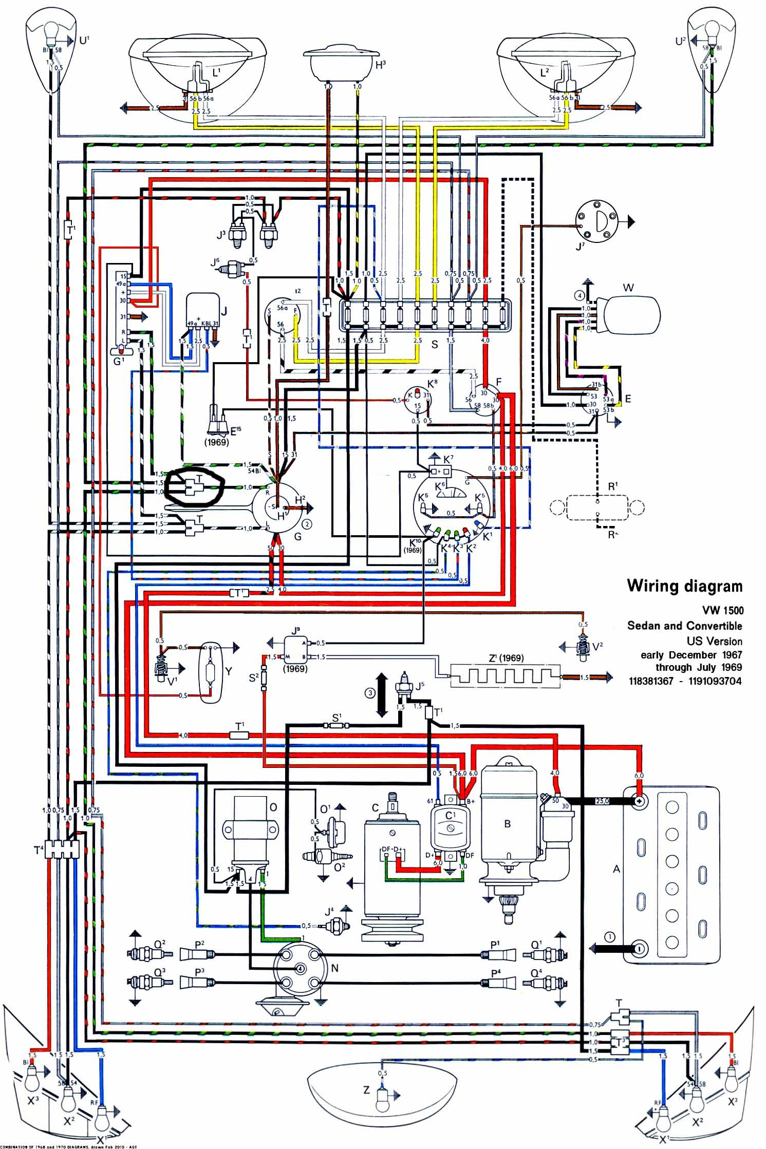 Vw Headlight Switch Wiring Diagram : Wiring diagram for vw beetle the